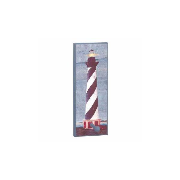 Coat Rack Blue Wood Lighthouse Coat/Peg Rack