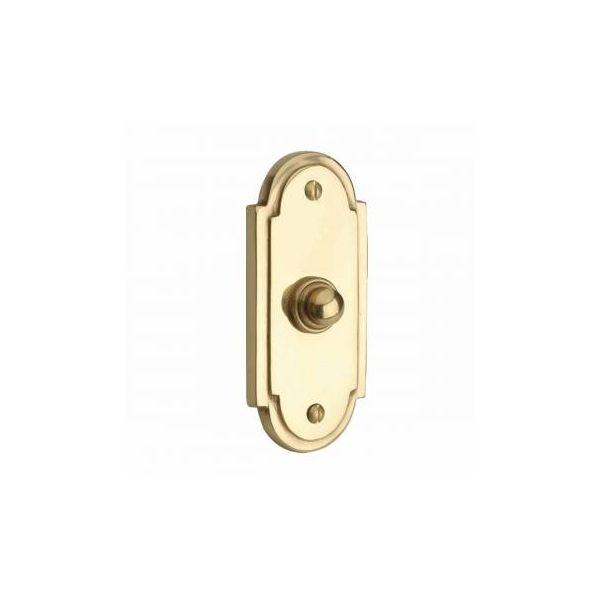 """Colonial Brass Push Button Door Bell 4"""" H"""