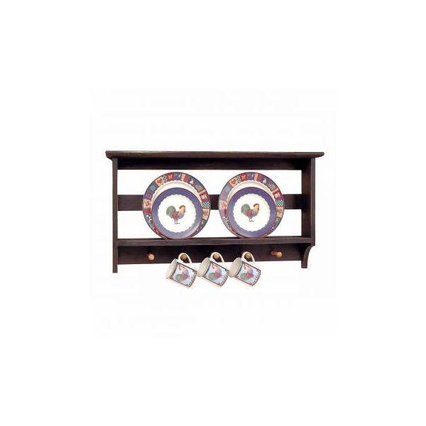 """Kitchen Plate Racks Black/Autumn Hardwood 18.5"""" x 33.5"""""""
