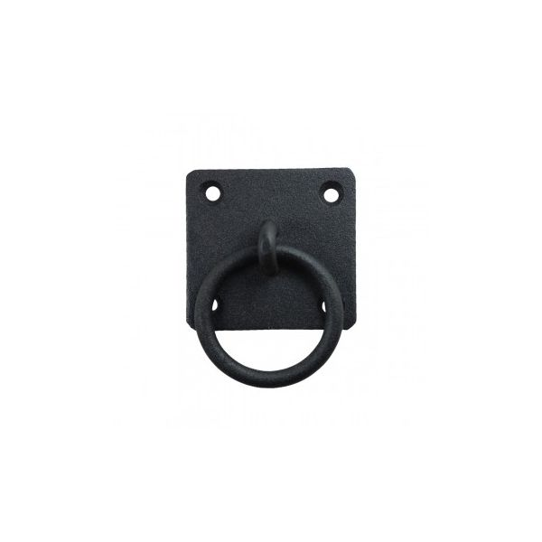 Black Cast Iron Ring Pull Cabinet Hardware Rustic Style