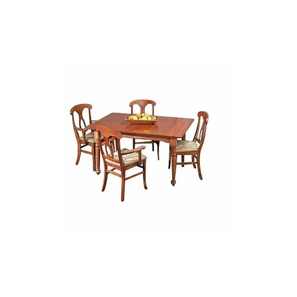 Dining Room Table Set Autumn Stain Hardwood Birch Table 56 Inch x 38 Inch