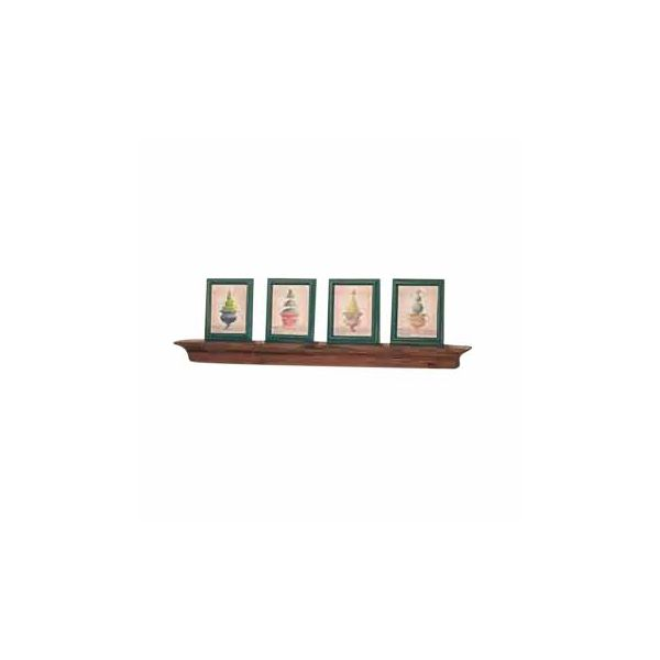 "Bathroom Shelves Antique Pine Mantle Shelf 40""W"