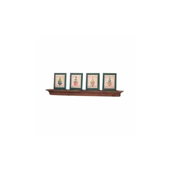 "Bathroom Shelves White Country Pine Mantle Shelf 40""W"