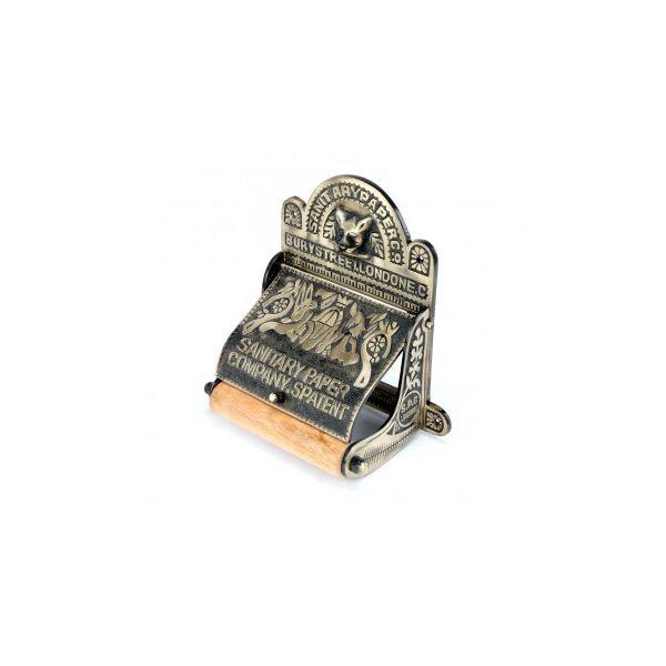 "Brass Toilet Paper Tissue Holder Antique Brass ""Sanitary Paper Co."""