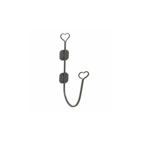 Bathroom Hose Holder Heart Black Wrought Iron