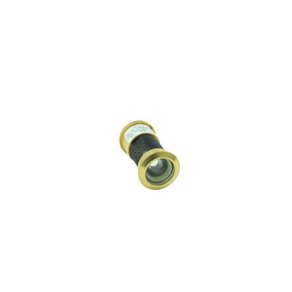 "Door Peephole Viewer Brass 160 degree 1 1/8"" to 2 1/16"" Adjustable Length"