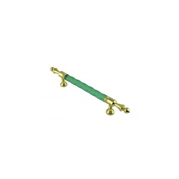 Vintage Cabinet Pull Drawer Handle Green Acrylic Twisted
