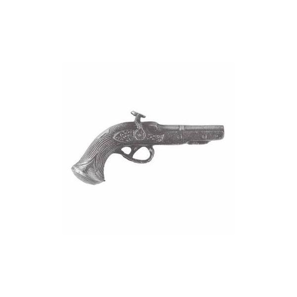 Vintage Pistol Cabinet Pull Pewter Zinc Right