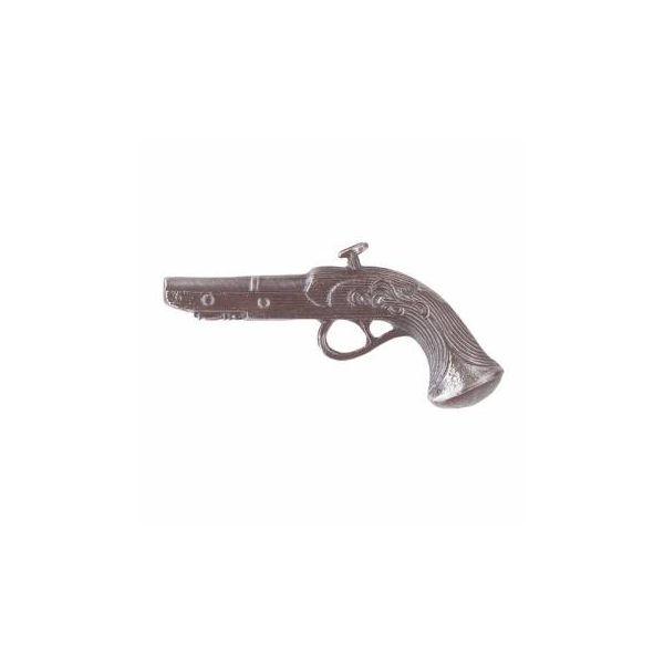 Vintage Pistol Cabinet Pull Pewter ZincLeft