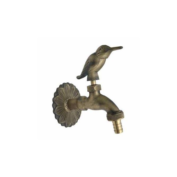 Faucet Bird Spigot Solid Brass Antique Finish Garden Tap Hose Not Incl