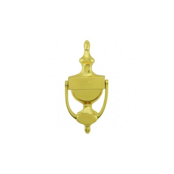 Renovator's Supply Door Knocker Solid Brass Traditional Style Door Knocker 8 inch. H x 3.5 inch. W