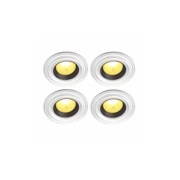 "4 Spot Light Ring White Trim 6.5"" ID x 10""OD Mini Medallion"