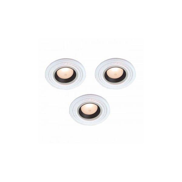 "3 Spot Light Ring White Trim 5"" ID x 9"" OD Mini Medallion"
