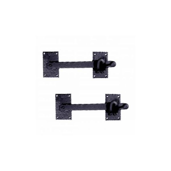 2 Lift Gate Lock Black Wrought Hand Forged Iron Gate Latch 12 Inch