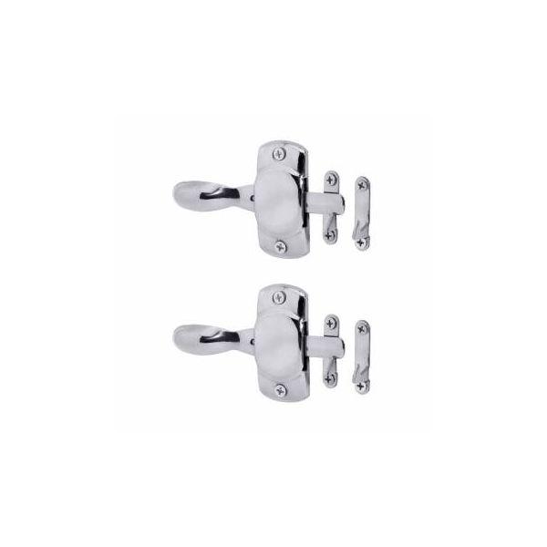 Chrome Brass Hoosier Icebox Latch Left Pack of 2