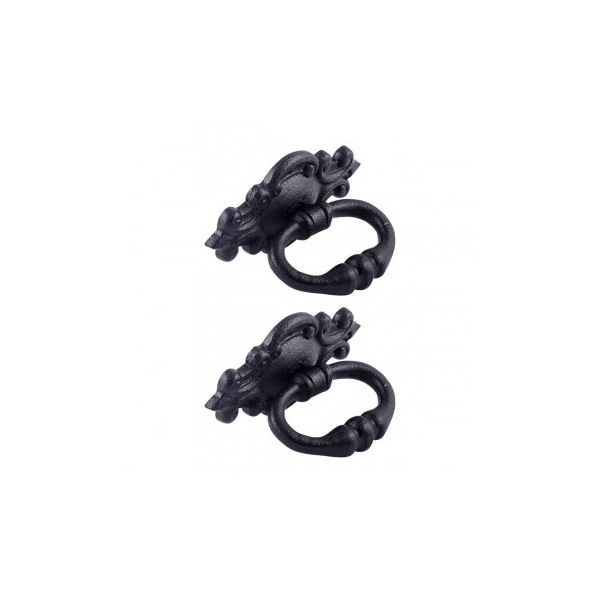 """3 1/8"""" Ornate Drawer Ring Pull Pack of 2"""