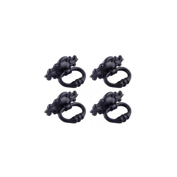 """3 1/8"""" Ornate Drawer Ring Pull Pack of 4"""