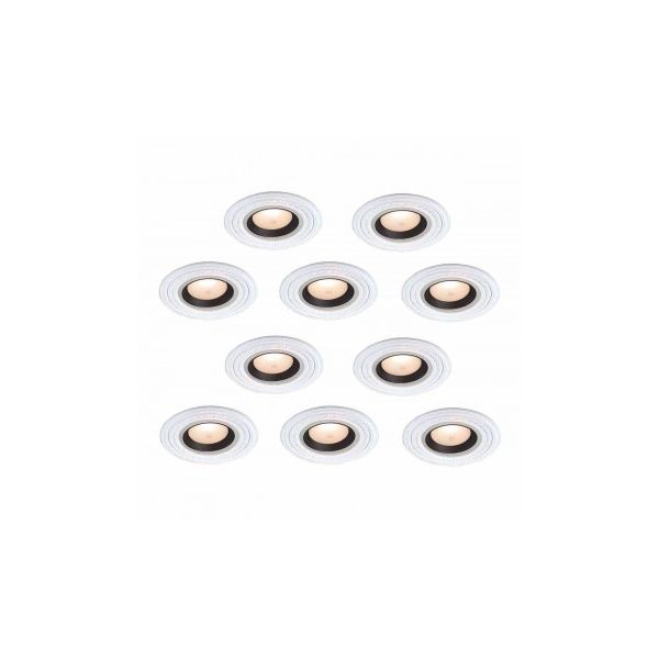 "10 Spot Light Ring White Trim 5"" ID x 9"" OD Mini Medallion"