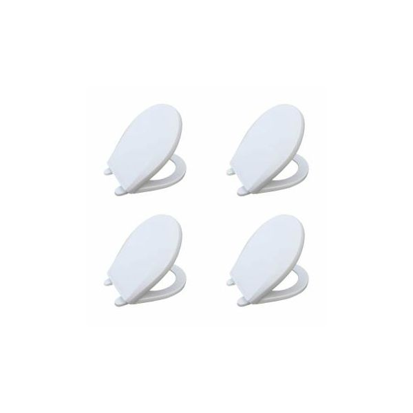 Child Sized Toilet Seat Replacement White Molded Plastic set of 4