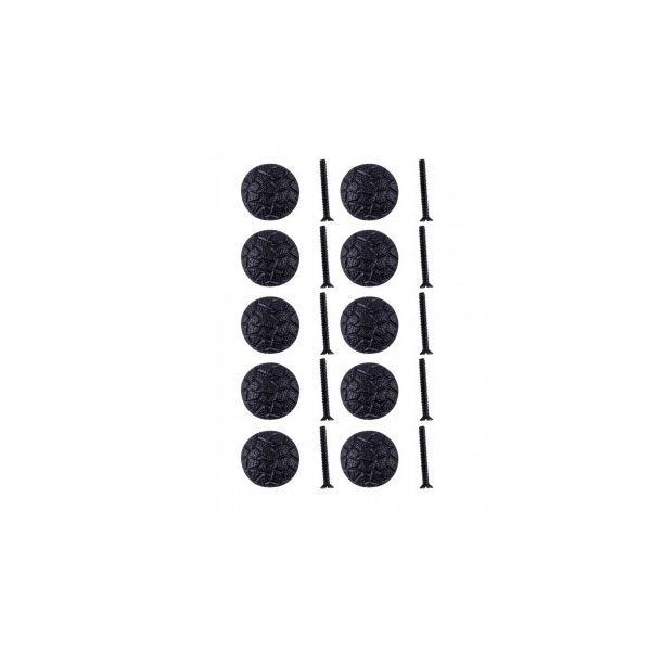 Iron Cabinet Knob Black Round Cobble Stone Design Cabinet Hardware Pack of 10