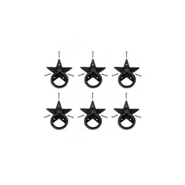 Cabinet Drawer Ring Pull Black Iron Southern Star Hardware Included Pack of 6