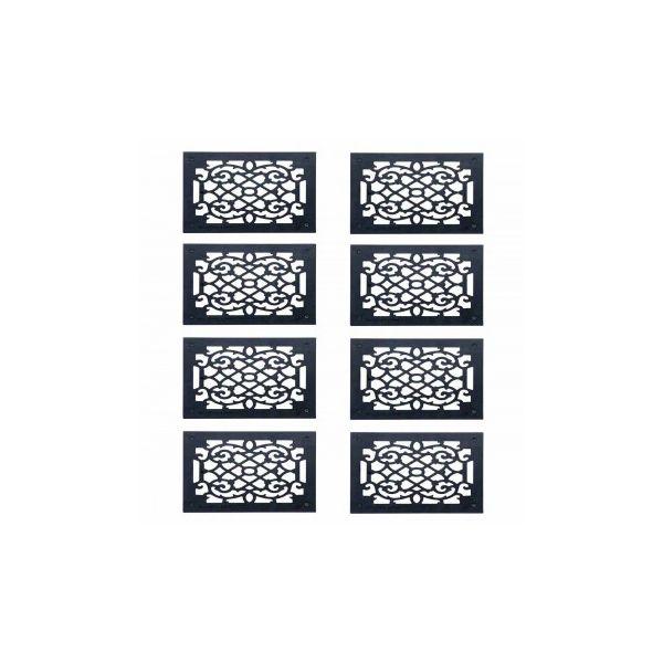 """8 Heat Register Floor Vent Grate Cast Aluminum  9.5"""" x 11 3/8"""