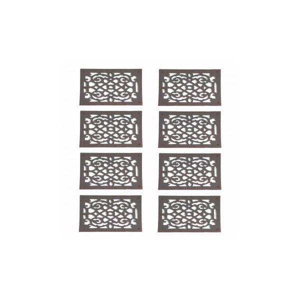 8 Heat Register Black Aluminum Air Grill 9 1/2 x 11 3/8