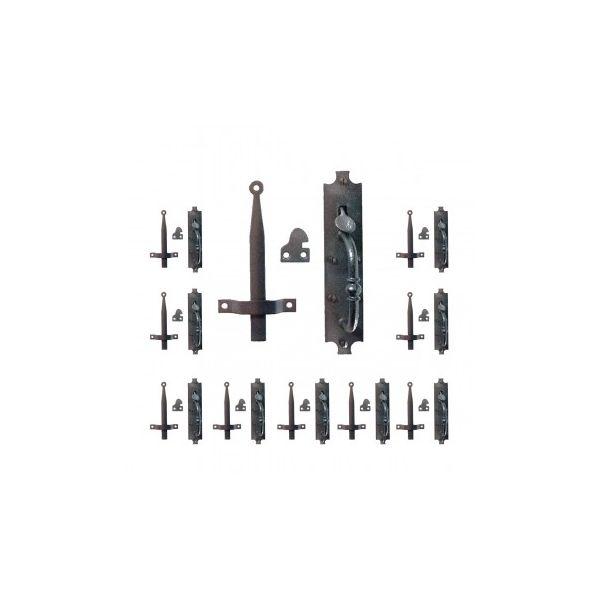"10 Cast Iron Door Latch Black ""Colonial Norfolk"" 8"" Tall"