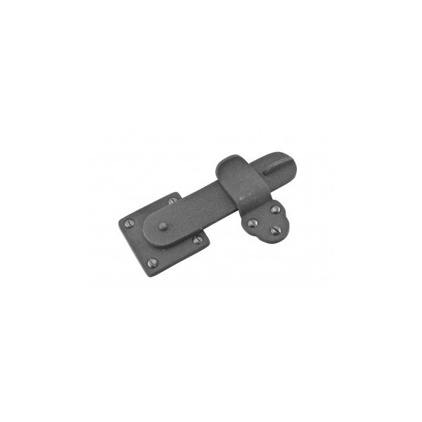 """2 Pack Gate Latch Black Wrought Iron 5 3/4"""" by 3 3/8"""""""
