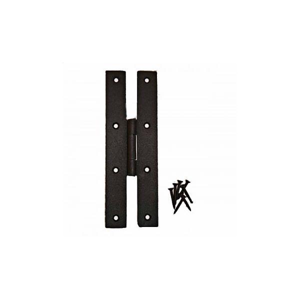 Black Iron Flush Door Hinge H Forged High Rustproof Finish 7 Inch Pack of 8