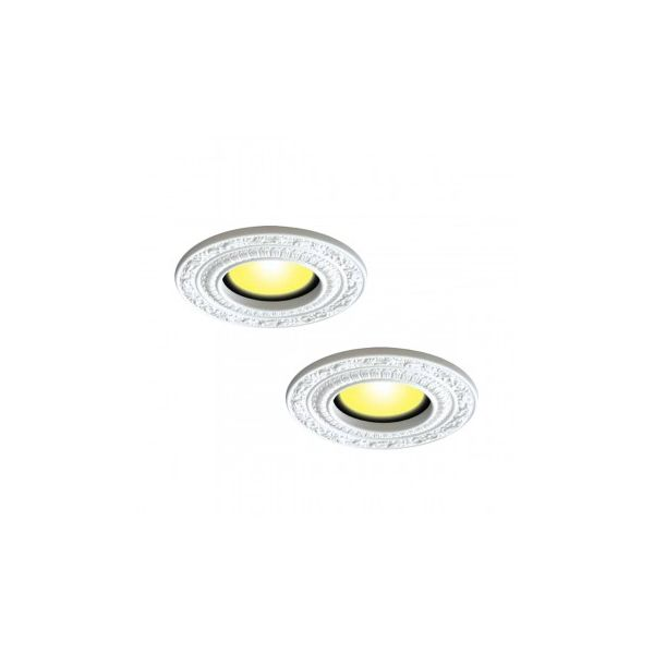 "2 Spot Light Trims White Urethane Recess 6"" ID X 10"" OD Renovator's Supply"