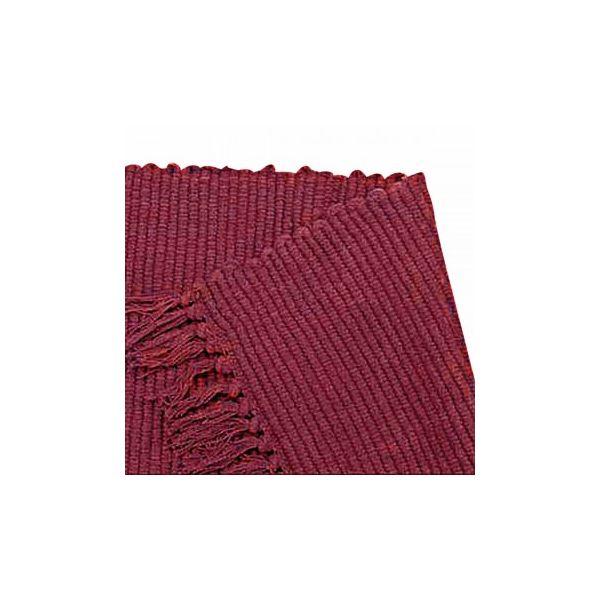 "Rectangular Area Rug 8' x 2' 6"" Red Cotton"