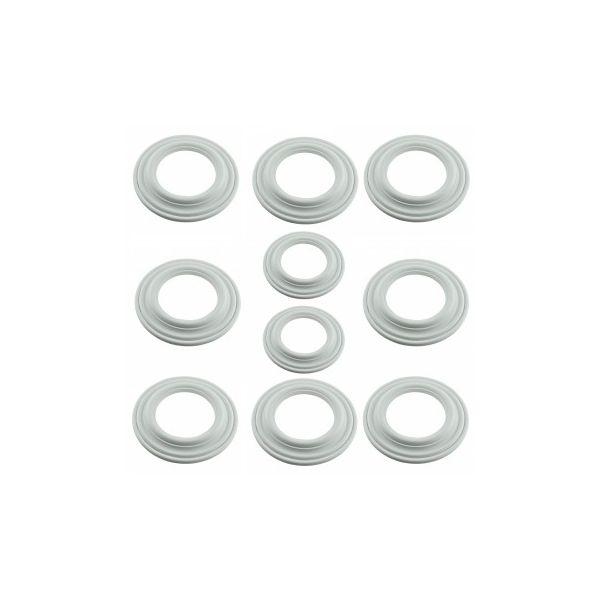 "Spot Light Ring White Trim 5"" ID x 9"" OD Mini Medallion Set of 10"