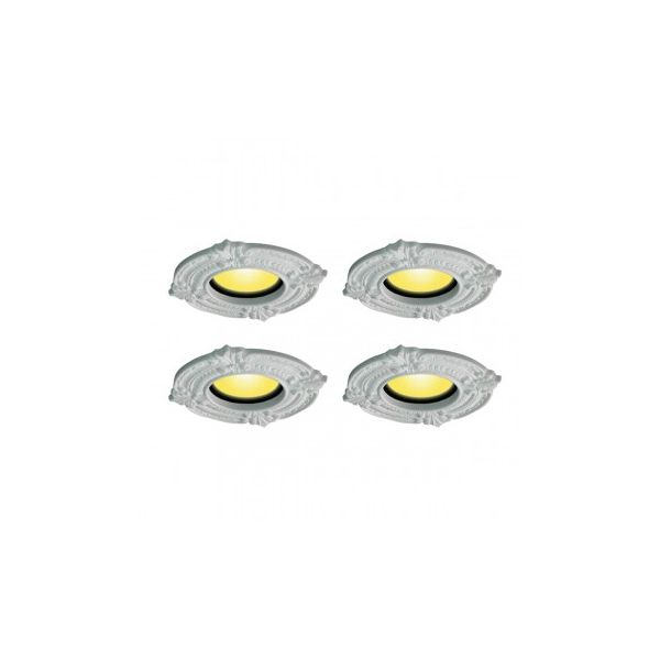 Recessed Urethane Ceiling Medallion Trim White 6 inches ID x 10 inches OD 4 Pack