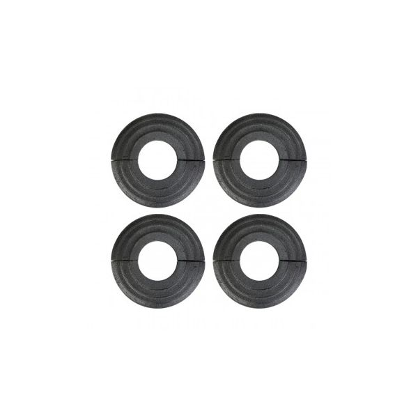4 Radiator Flanges Black Aluminum Escutcheon 1 1/4'' ID Renovator's Supply