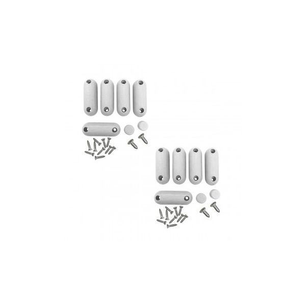 Toilet Seat Bumpers White Silicon Pack Of 2