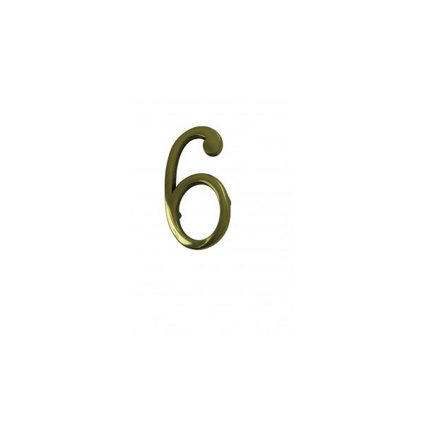 """Bright Solid Brass 3"""" Address House Number '6' '9' Pin Mount  Renovator's Supply"""