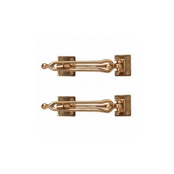 Swing Bar Security Door Lock Durable Door Guard Solid Brass Safety Guard Lock