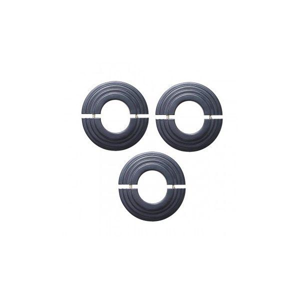 Radiator Flange Black Aluminum Escutcheon 1 11/16'' ID  Pack of 3