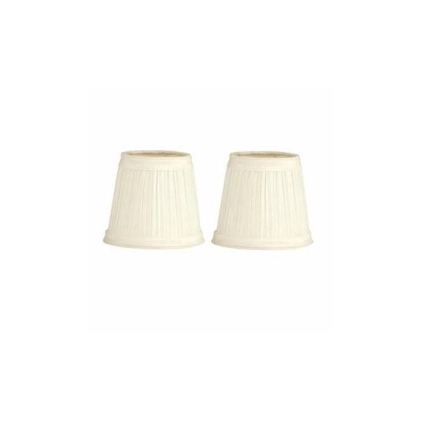 "2 Fabric Lamp Shade Eggshell White 4 1/2"" Mini Drum Clip |Renovator's Supply"
