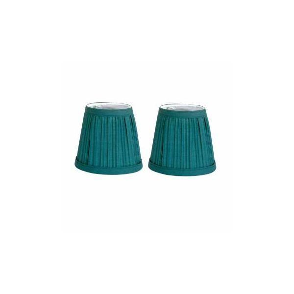 "2 Fabric Lamp Shade Hunter Green 4 1/16"" H Mini Clip"