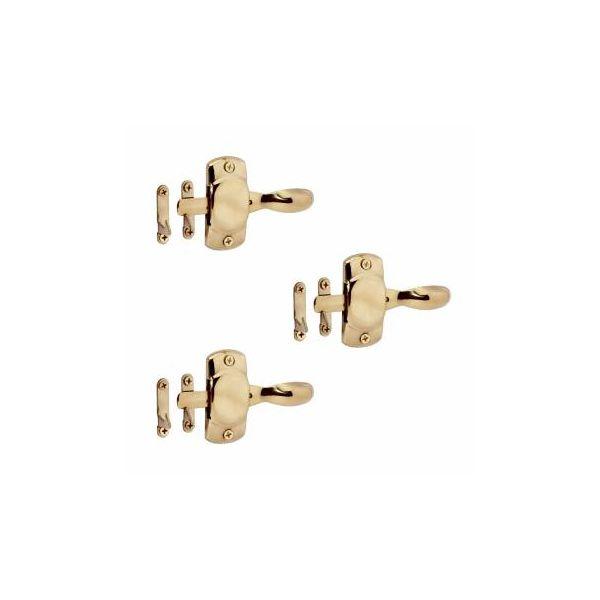 Hoosier Cabinet Latch Finish Brass Pack of 3