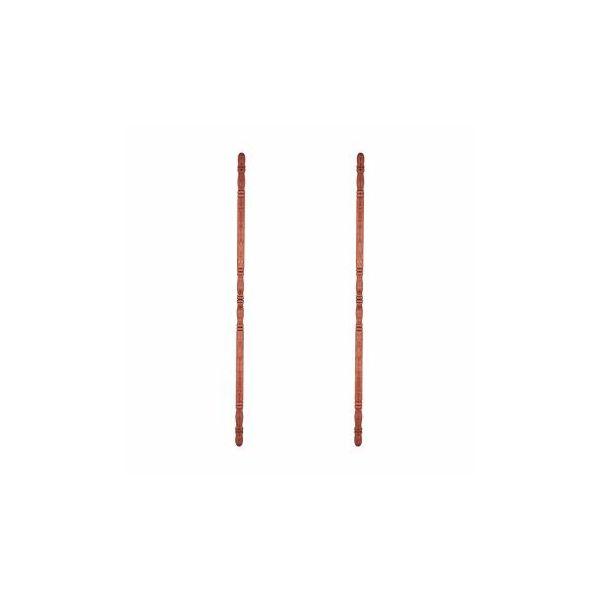 "Hardwood Corner Guard 39-1/2"" H x 1"" Dia. 90 Degree Notch Pack of 2"