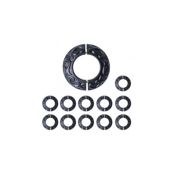 Rustproof Radiator Flange Black Aluminum Powder Coat Collar Pack of 12