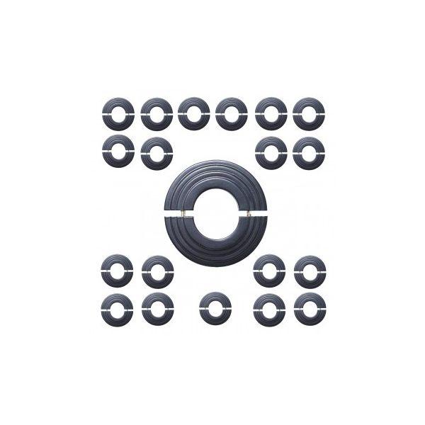 Radiator Flange Black Aluminum Escutcheon 1 11/16'' ID Pack of 20