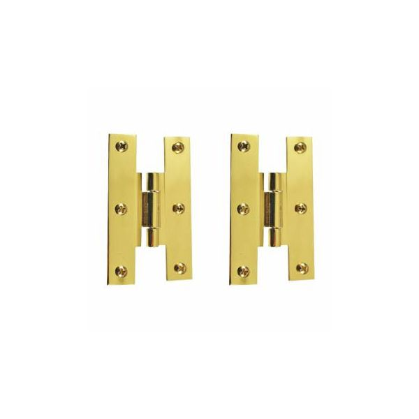 """3"""" Solid Brass Cabinet H Hinge Offset PVD Long Lasting Finish Pack of 2"""