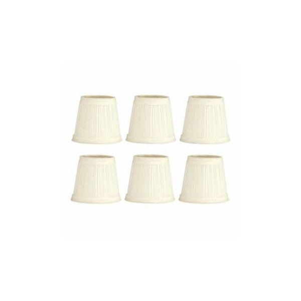 "6 Fabric Lamp Shade Eggshell 4 1/2"" Mini Drum Clip On 6 Pcs | Renovator's Supp"