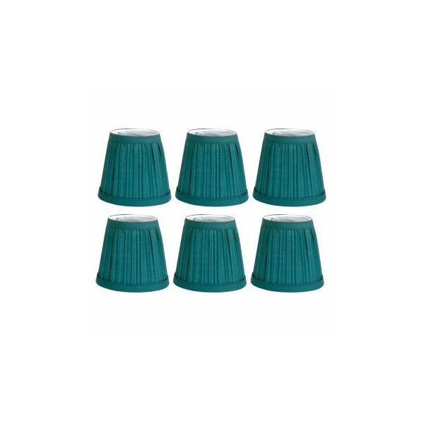 "6 Fabric Lamp Shade Hunter Green 4 1/16"" H Mini Clip On"
