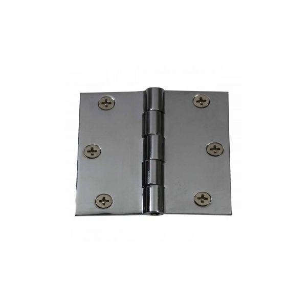 """Cabinet Hinges Chrome Solid Brass Square 3"""" x 3"""""""