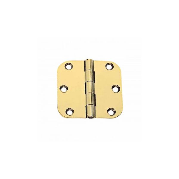"""Cabinet Hinges Bright Solid Brass 2"""" x 2"""" Round Hinge"""